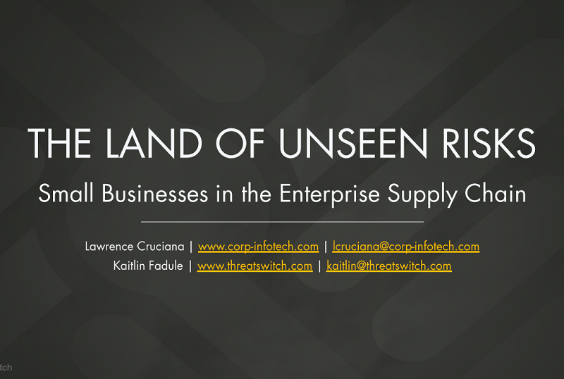 Supply Chain: The Land of Unseen Risks