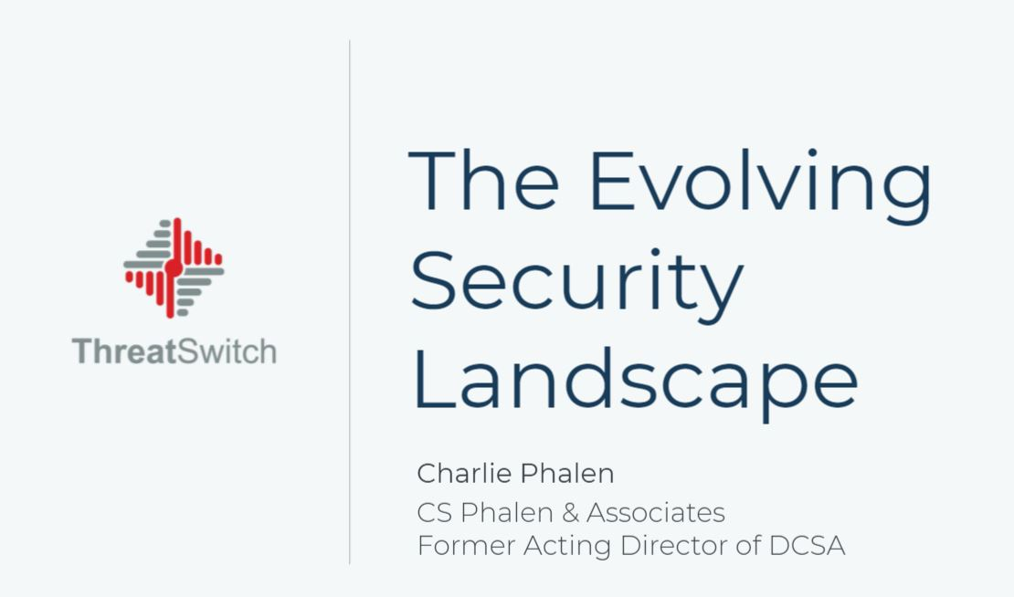 The Evolving Security Landscape with Charlie Phalen